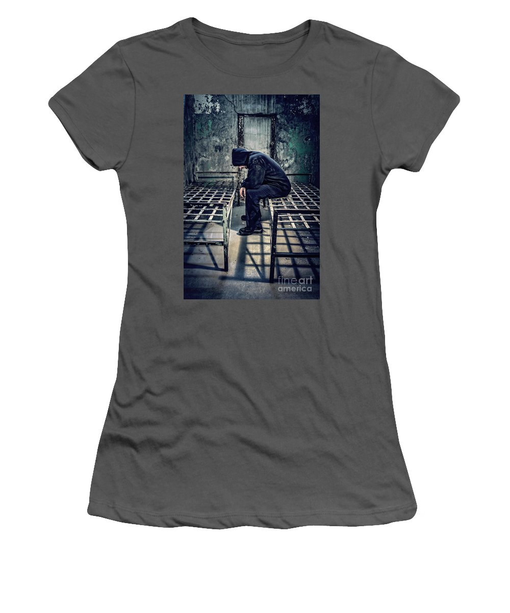 Kremsdorf Women's T-Shirt (Athletic Fit) featuring the photograph Thorns Of Punishment by Evelina Kremsdorf