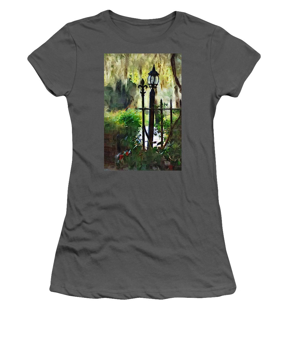 Gate Women's T-Shirt (Athletic Fit) featuring the digital art Thru The Gate by Donna Bentley