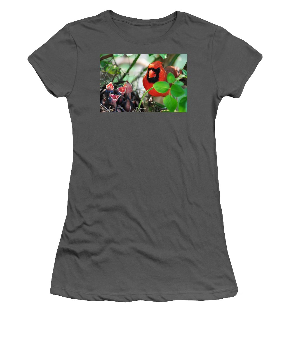 Cardinal Women's T-Shirt (Athletic Fit) featuring the photograph Ticked Off by Frozen in Time Fine Art Photography