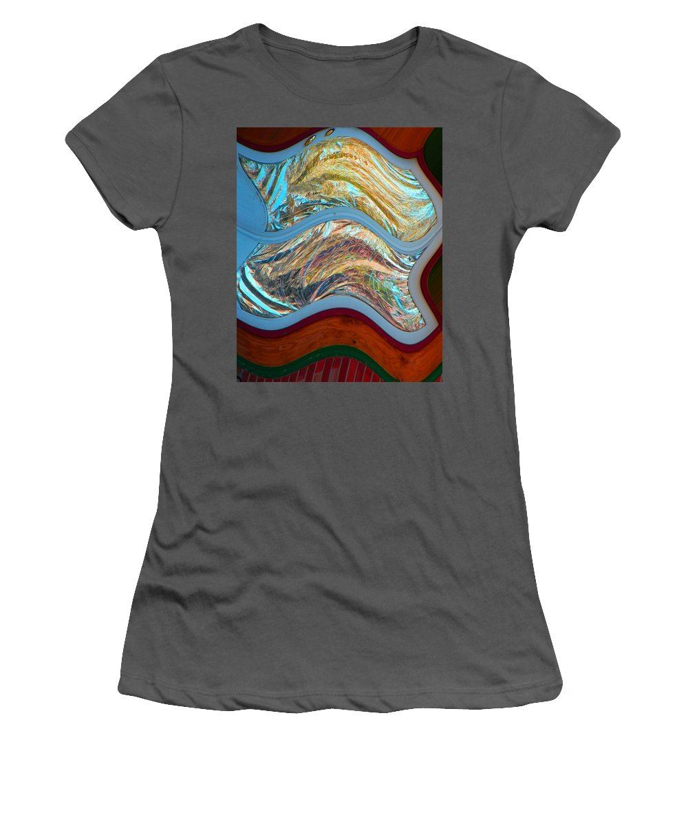 Abstract Women's T-Shirt (Athletic Fit) featuring the digital art Tin Foil by Lenore Senior
