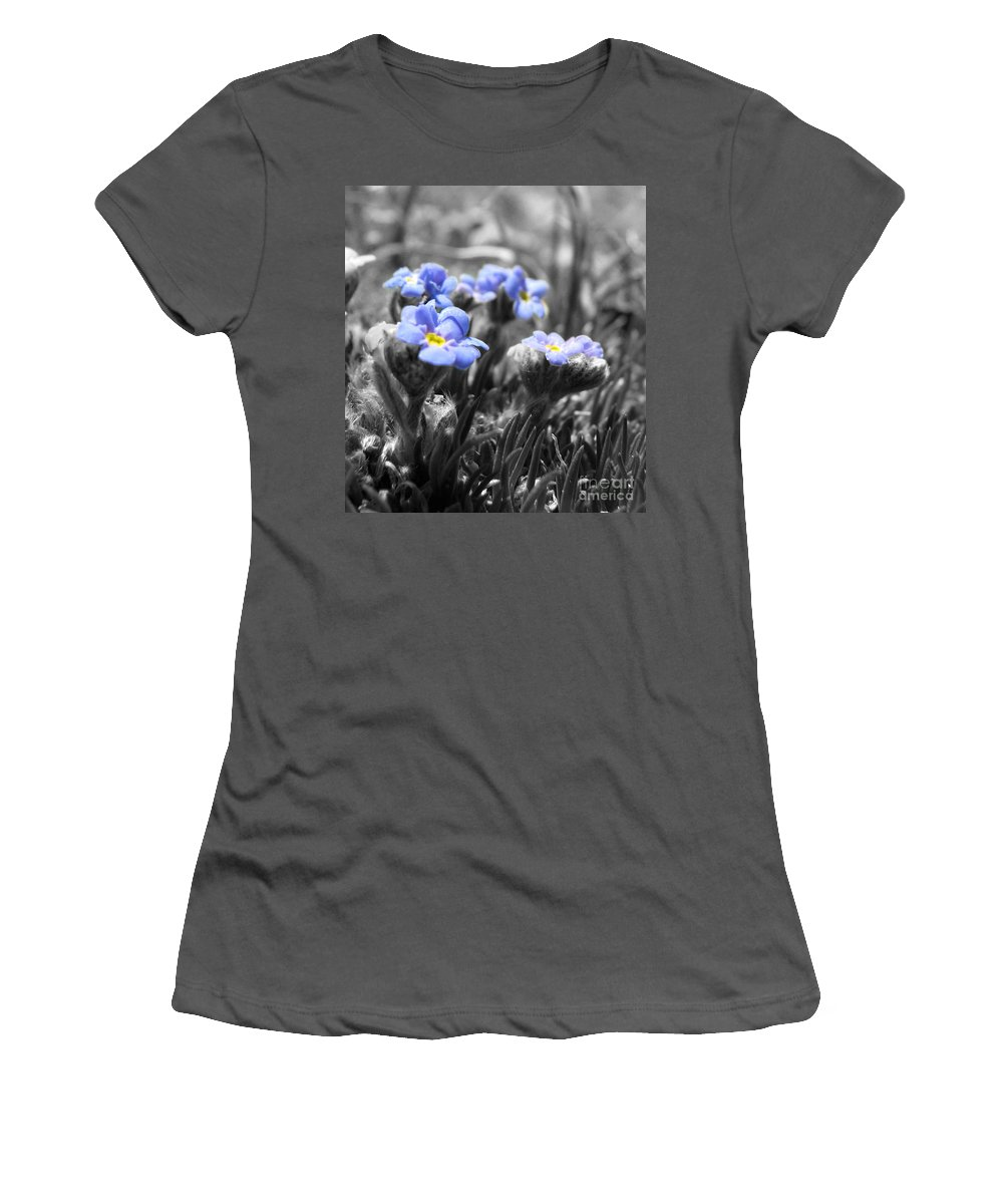 Flowers Women's T-Shirt (Athletic Fit) featuring the photograph Tiny Gems by Amanda Barcon
