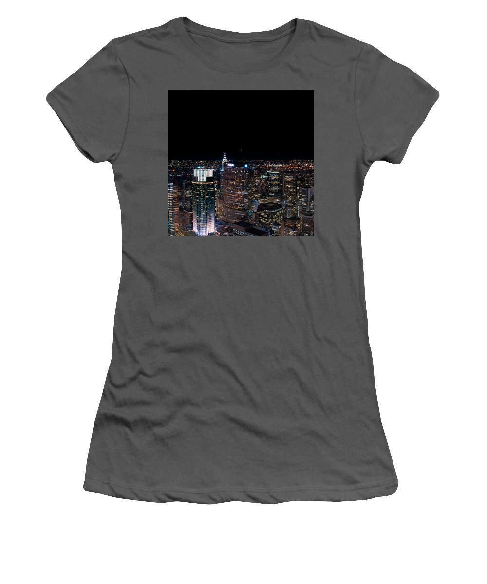 Women's T-Shirt (Athletic Fit) featuring the photograph Top Of The Rock 3 by AJ Mouser