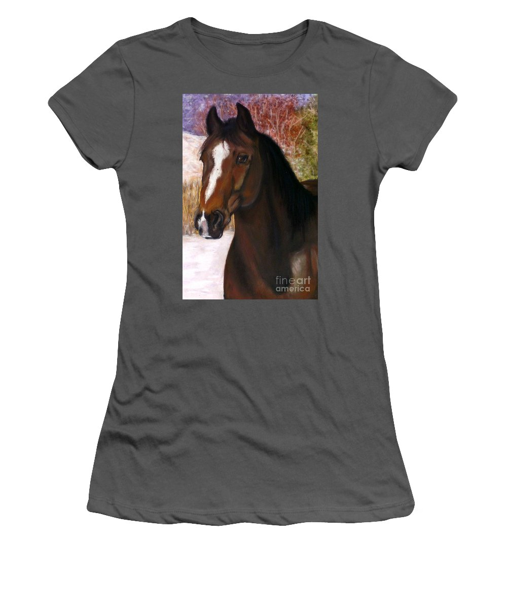 Horse Women's T-Shirt (Athletic Fit) featuring the painting Toronto by Frances Marino