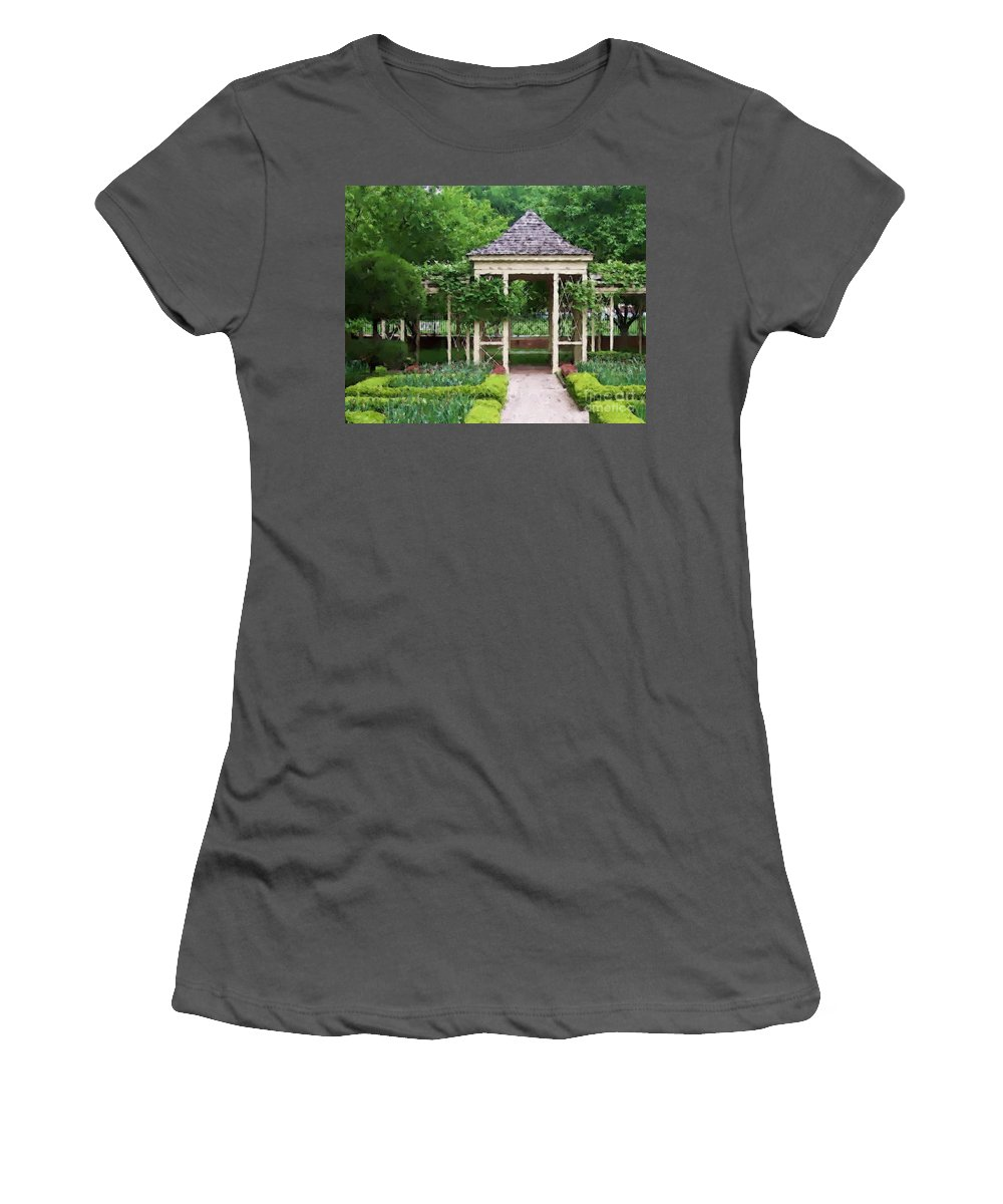 Garden Women's T-Shirt (Athletic Fit) featuring the photograph Tranquil by Debbi Granruth