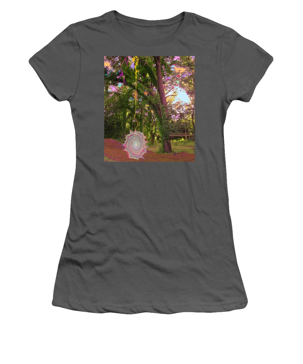 Trees Women's T-Shirt (Athletic Fit) featuring the photograph Tree Circus by Anne Cameron Cutri