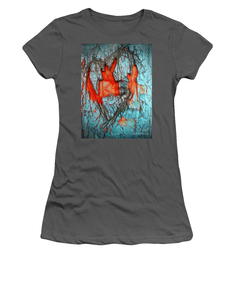 Tree Women's T-Shirt (Athletic Fit) featuring the photograph Tree Heart by Tara Turner