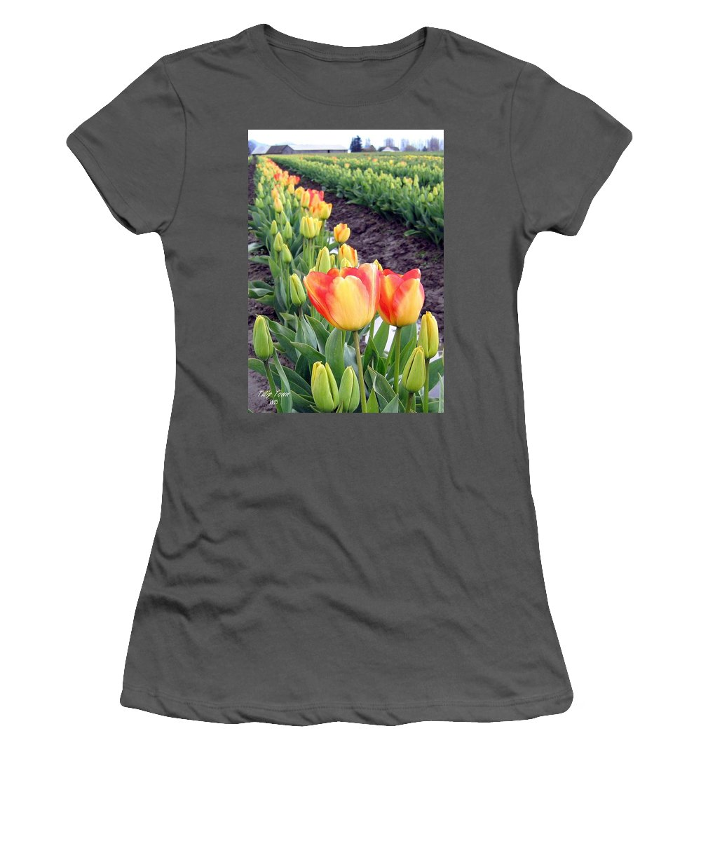 Agriculture Women's T-Shirt (Athletic Fit) featuring the photograph Tulip Town 6 by Will Borden
