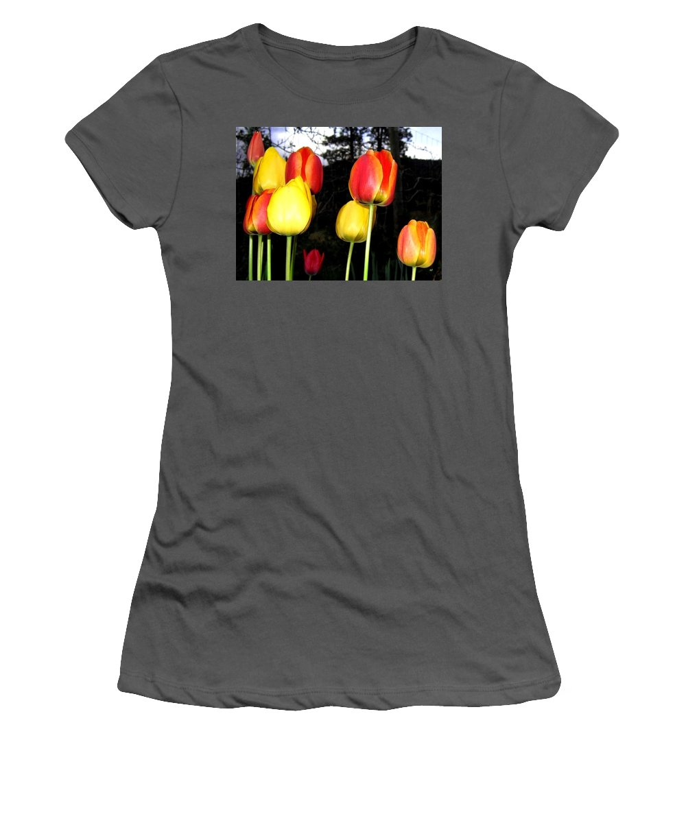 Tulips Women's T-Shirt (Athletic Fit) featuring the photograph Tulipfest 9 by Will Borden