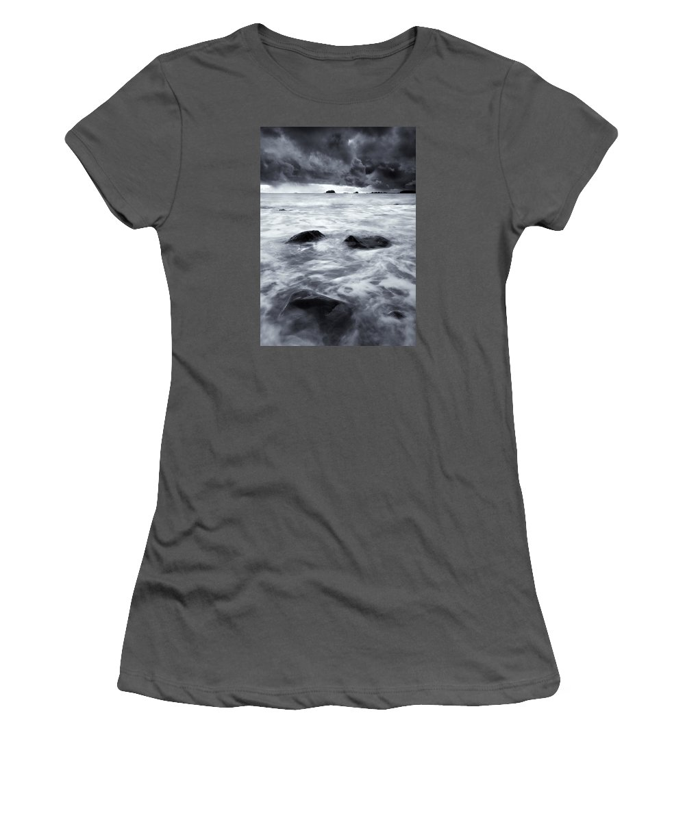 Sitka Women's T-Shirt (Athletic Fit) featuring the photograph Turbulent Seas by Mike Dawson
