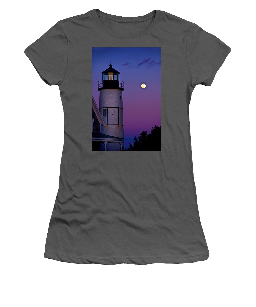 Twilight Women's T-Shirt (Athletic Fit) featuring the photograph Twilight Sandy Neck by Charles Harden