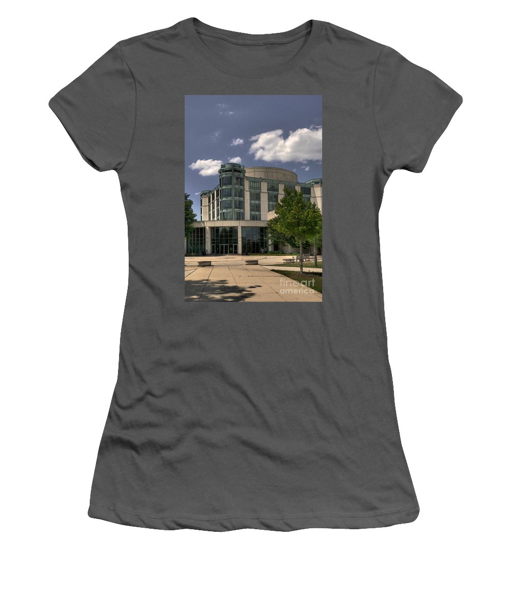 Umbc Women's T-Shirt (Athletic Fit) featuring the photograph Umbc by Lois Bryan