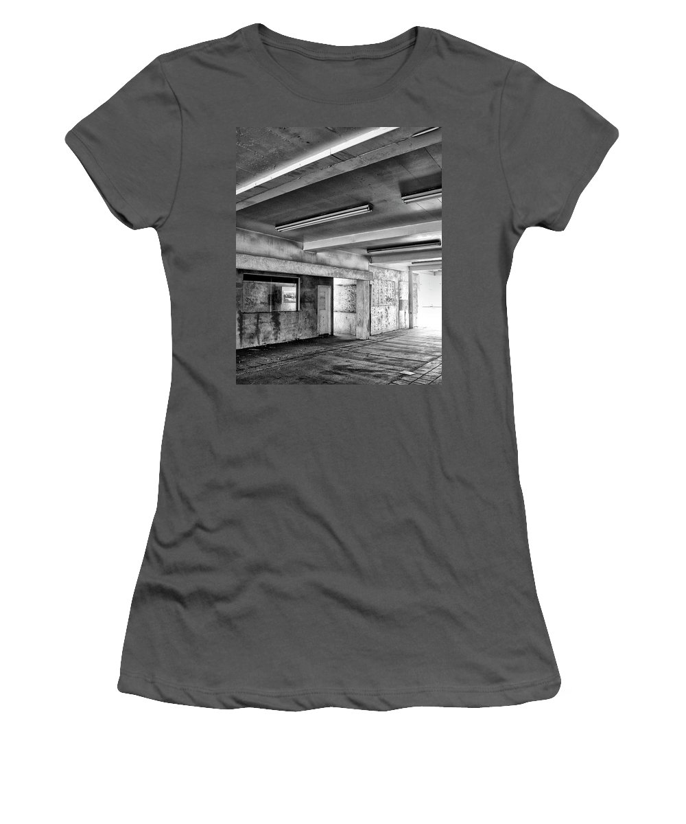 Building Women's T-Shirt (Athletic Fit) featuring the photograph Underground Bw by William Dey