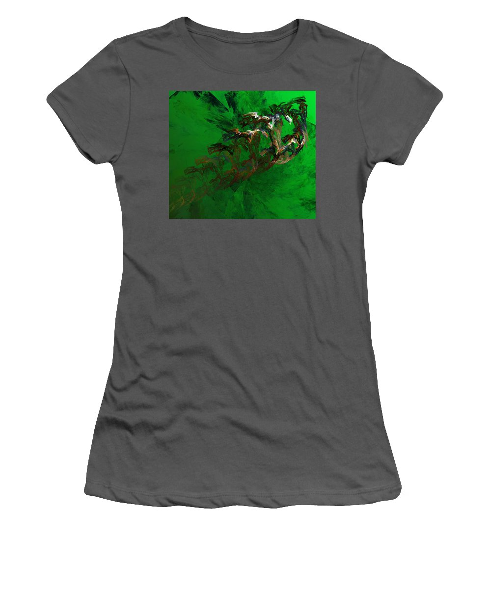 Digital Painting Women's T-Shirt (Athletic Fit) featuring the digital art Untitled 01-15-10 by David Lane