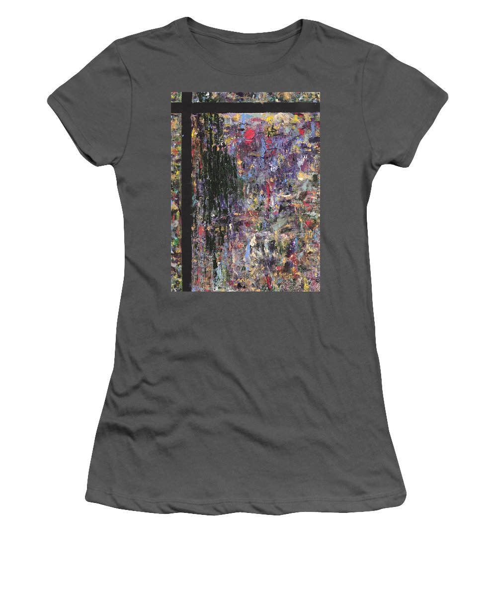 Abstract Painting Women's T-Shirt (Athletic Fit) featuring the painting Untitled by Jaime Becker