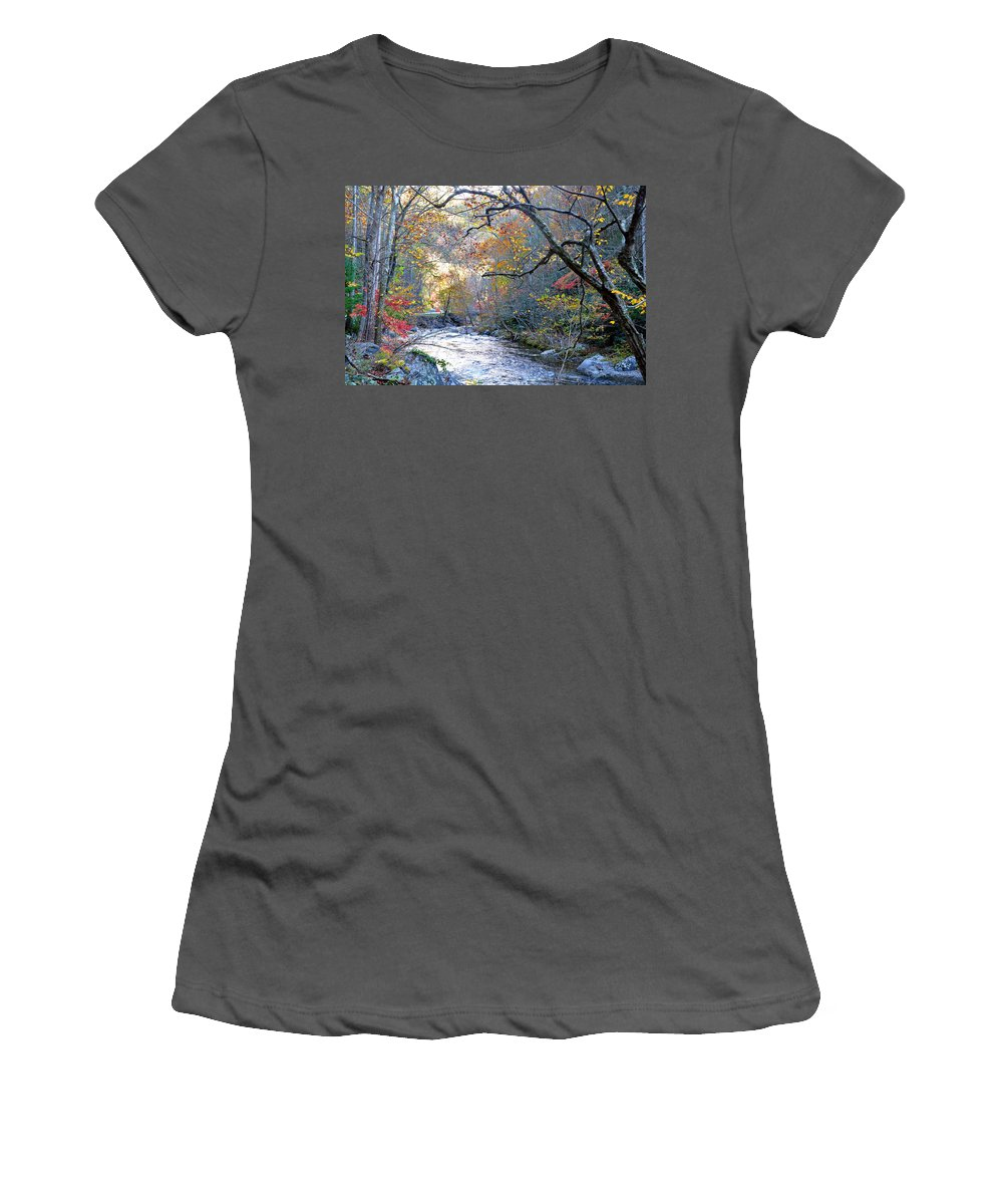 Smokey Mountain Women's T-Shirt (Athletic Fit) featuring the photograph Up The Mountain We Go by Brittany Horton