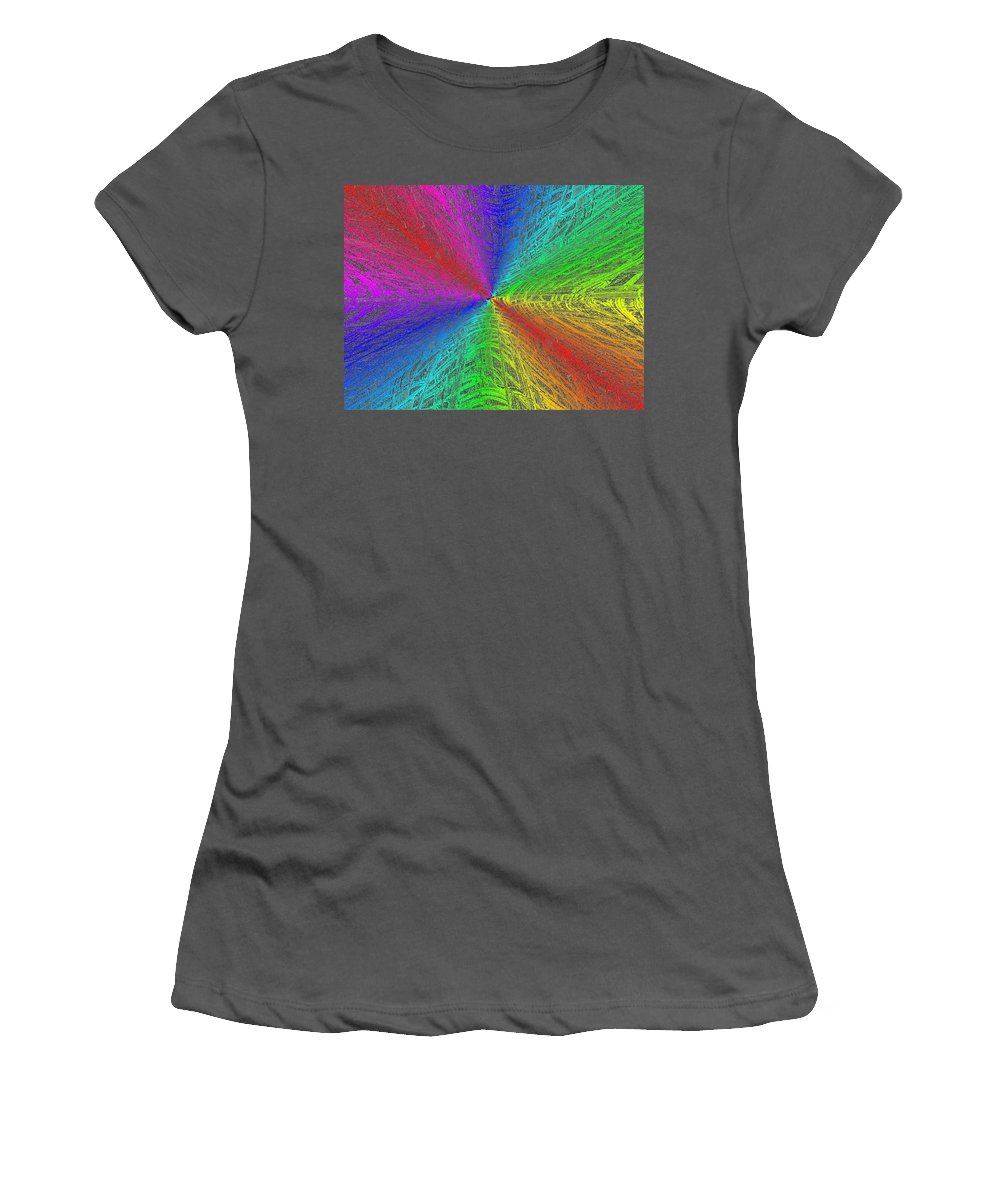 Abstract Women's T-Shirt (Athletic Fit) featuring the digital art Urban Colorful by Tim Allen
