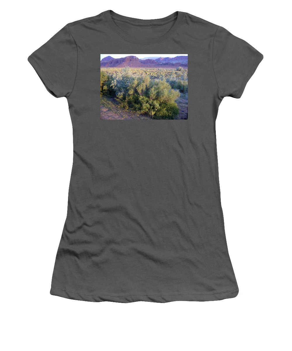 Utah Women's T-Shirt (Athletic Fit) featuring the photograph Utah Sunset by Mary Rogers