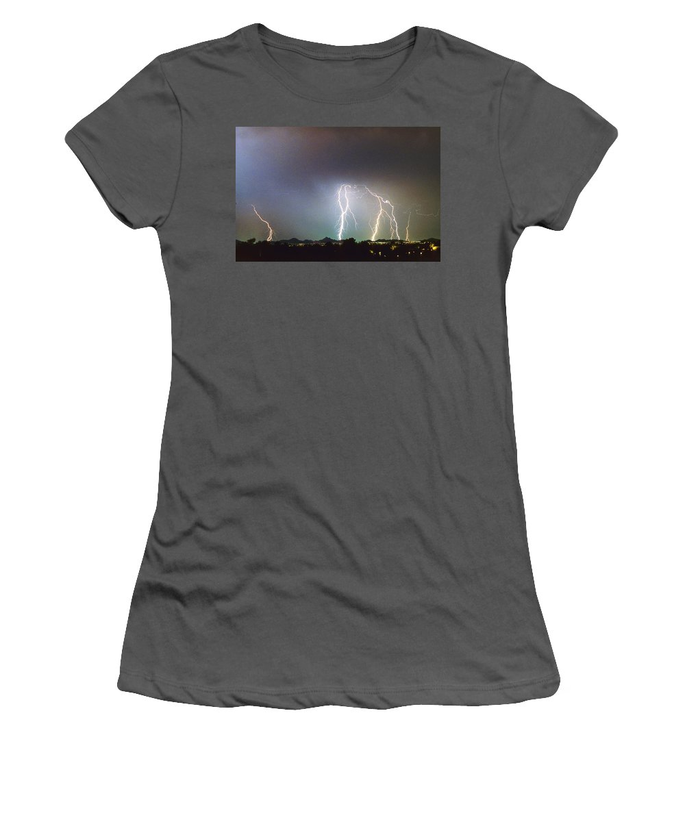 Arizona Women's T-Shirt (Athletic Fit) featuring the photograph View From Oaxaca Restaurant Ll by James BO Insogna