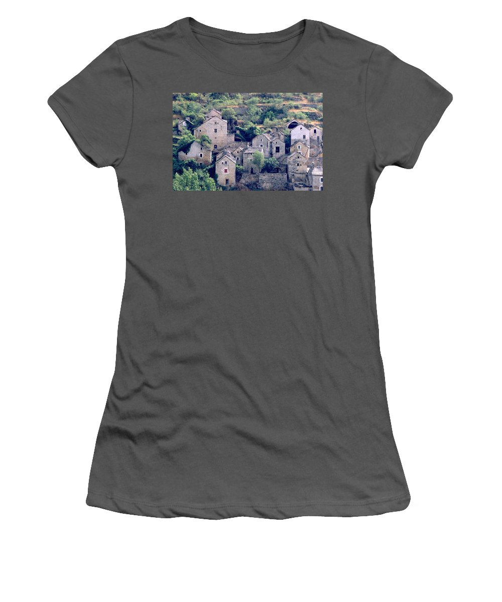 Village Women's T-Shirt (Athletic Fit) featuring the photograph Village by Flavia Westerwelle