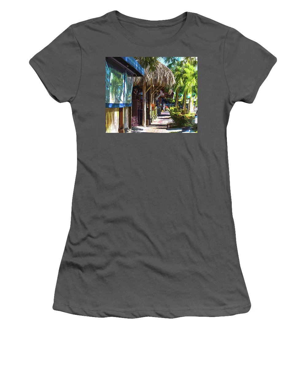 Susan Molnar Women's T-Shirt (Athletic Fit) featuring the photograph Village Life II - Siesta Key by Susan Molnar