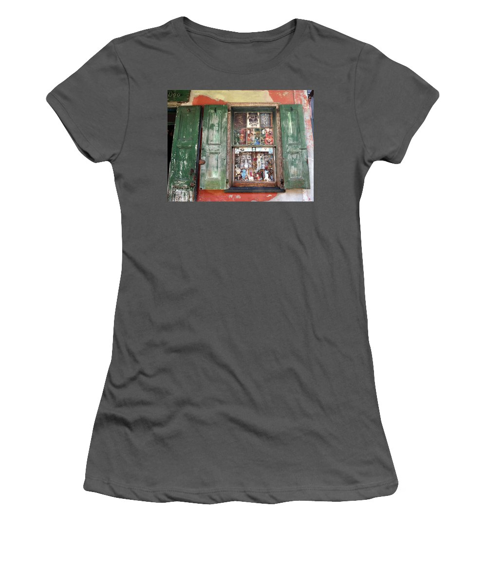 New Orleans Women's T-Shirt (Athletic Fit) featuring the photograph Voodoo Window by Merja Waters