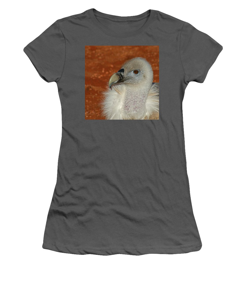Vultures Women's T-Shirt (Athletic Fit) featuring the photograph Vulture Portrait by Ernie Echols