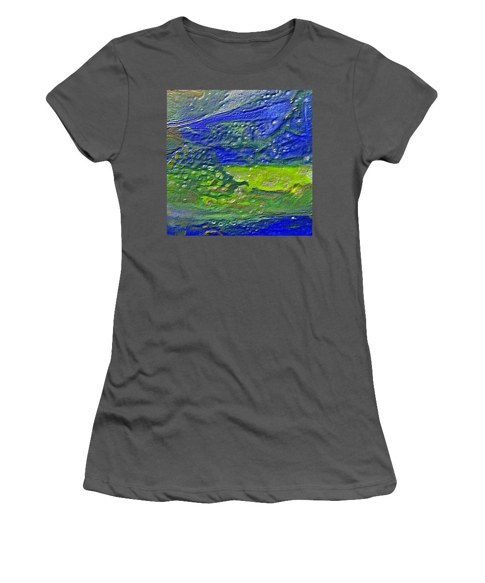Encaustic Painting Women's T-Shirt (Athletic Fit) featuring the painting W 029 by Dragica Micki Fortuna