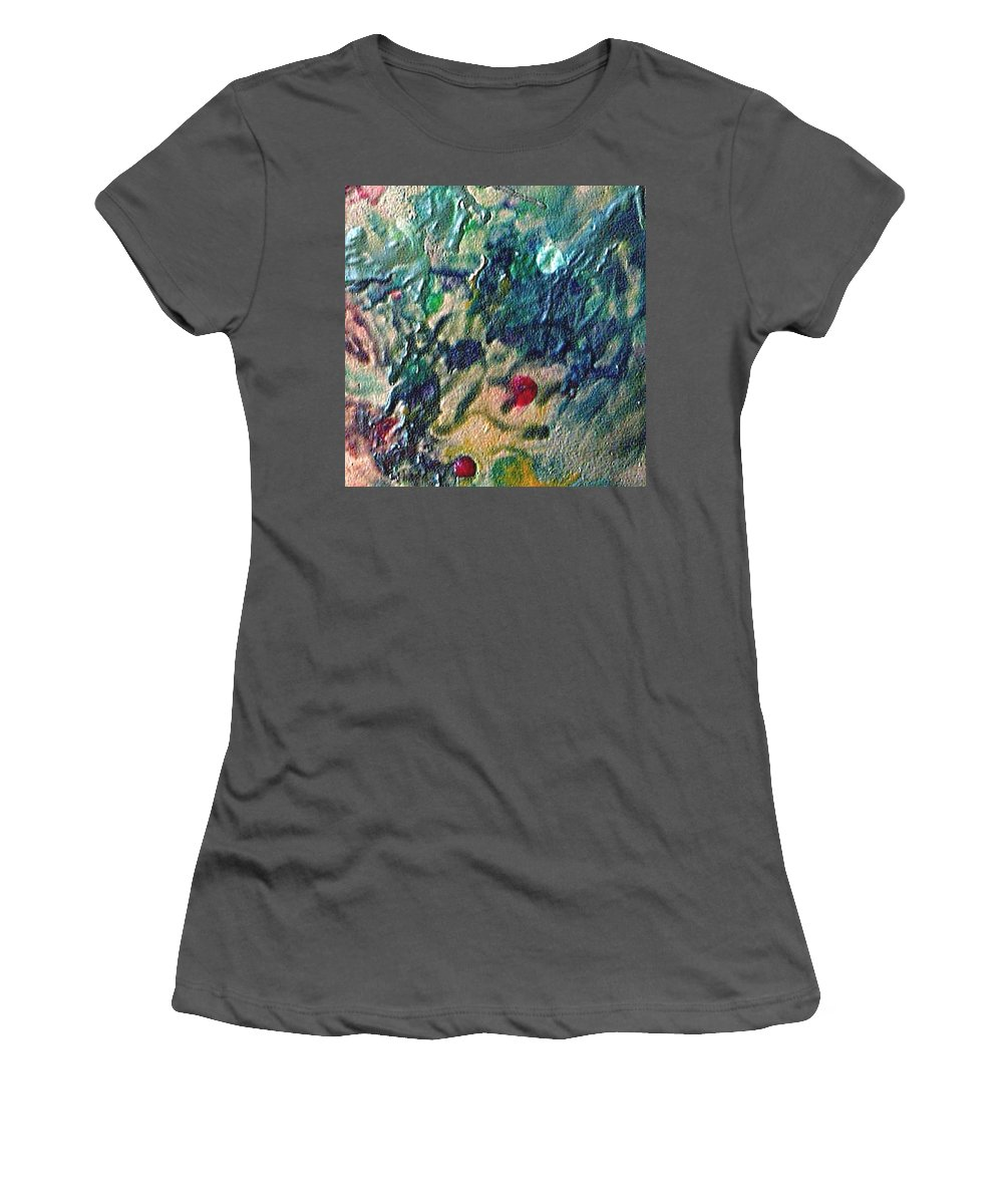 Abstract Women's T-Shirt (Athletic Fit) featuring the painting W 032 by Dragica Micki Fortuna
