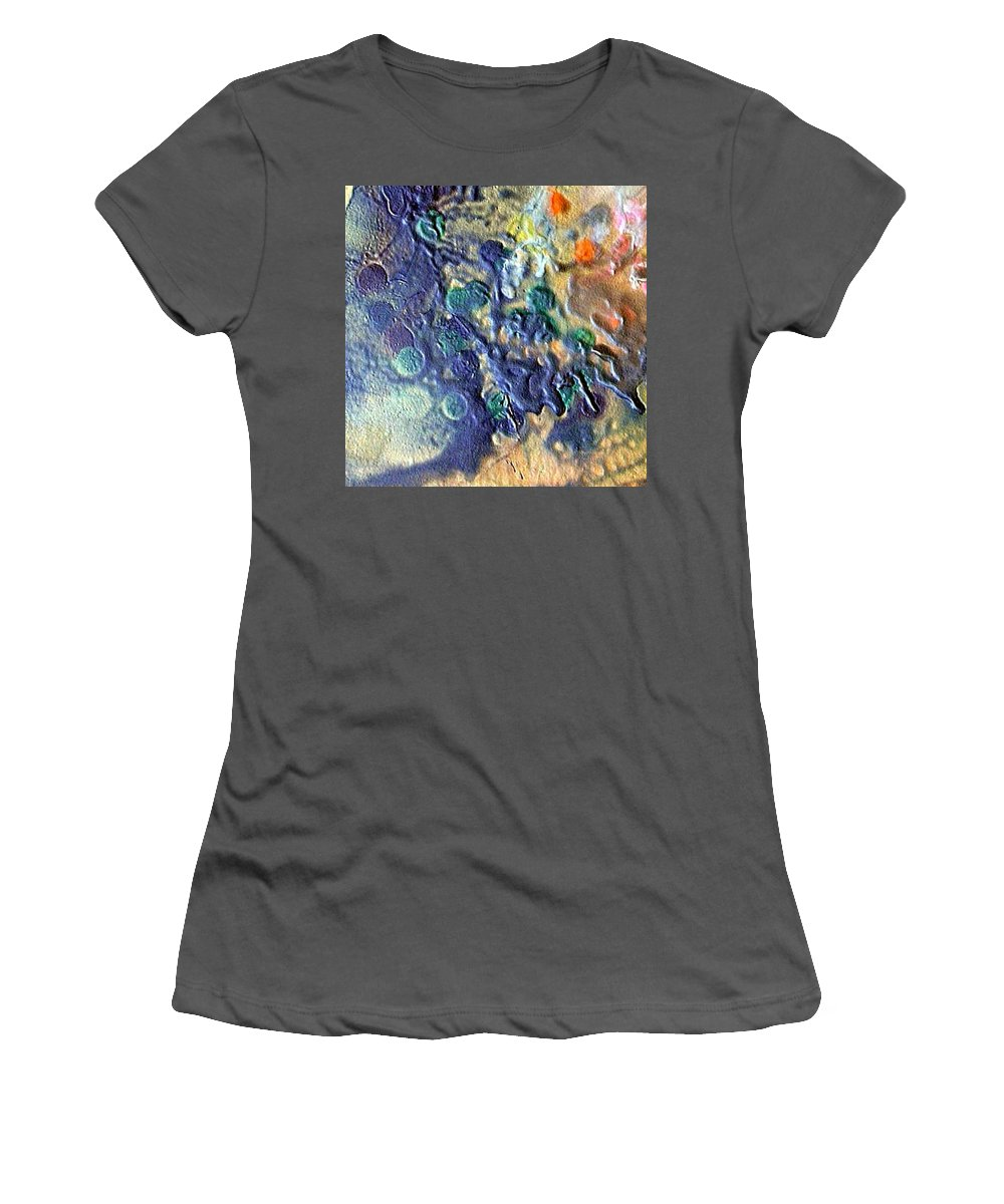 Bubbles Women's T-Shirt (Athletic Fit) featuring the painting W 040 by Dragica Micki Fortuna