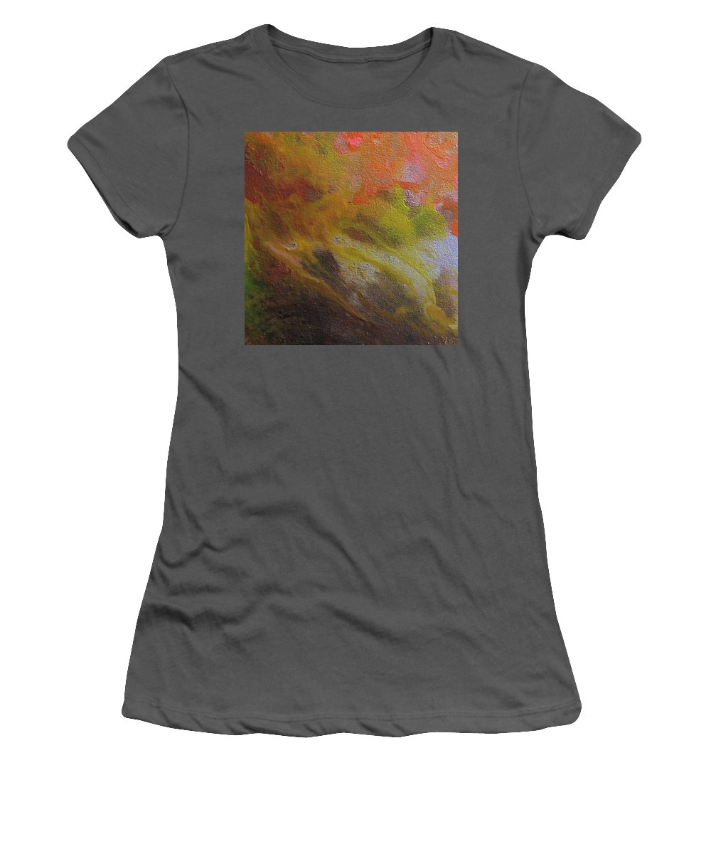 Abstract Women's T-Shirt (Athletic Fit) featuring the painting W 051 by Dragica Micki Fortuna