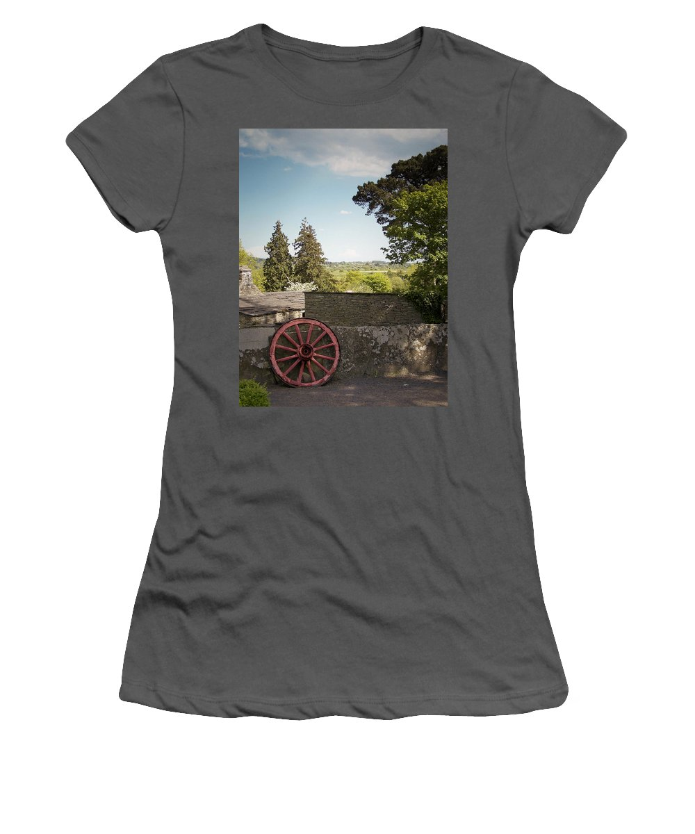 Irish Women's T-Shirt (Athletic Fit) featuring the photograph Wagon Wheel County Clare Ireland by Teresa Mucha