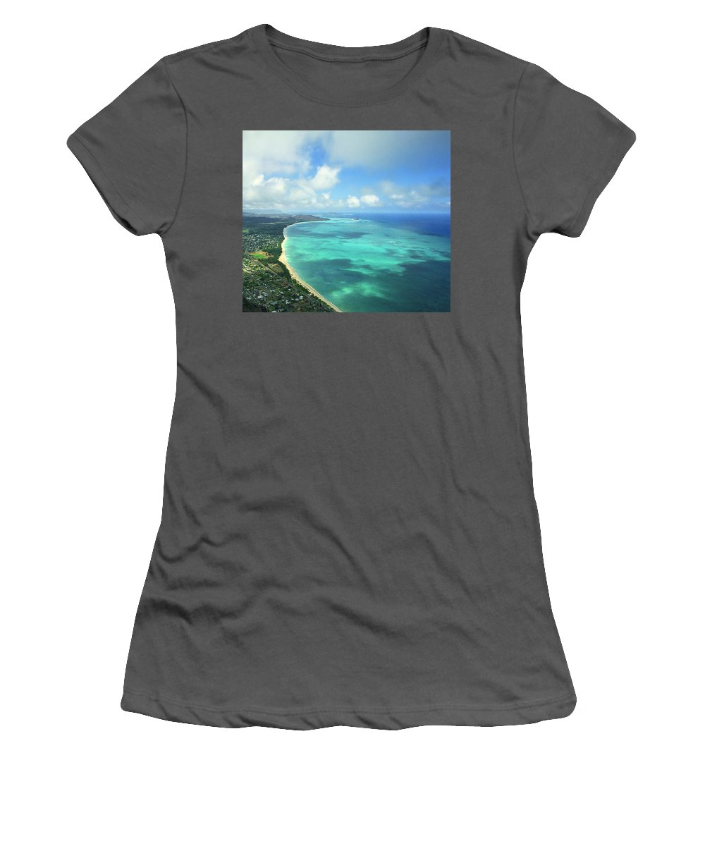 Waimanalo Women's T-Shirt (Athletic Fit) featuring the photograph Waimanalo Bay by Kevin Smith