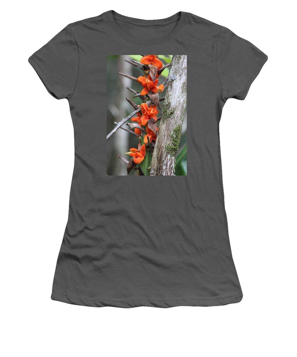 Kauai Women's T-Shirt (Athletic Fit) featuring the photograph Waimea Flowers by Lauri Novak