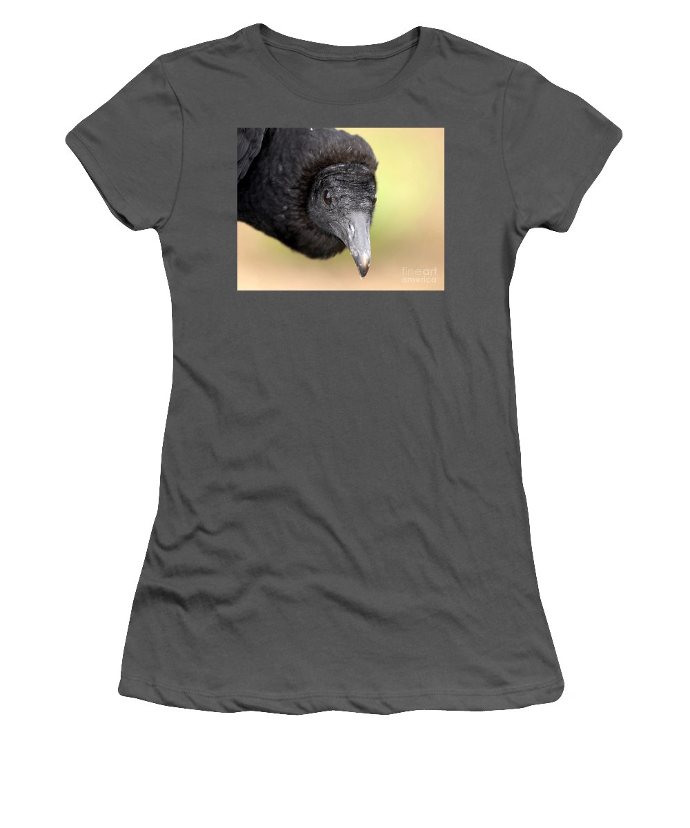 Black Vulture Women's T-Shirt (Athletic Fit) featuring the photograph Waiting For You by David Lee Thompson