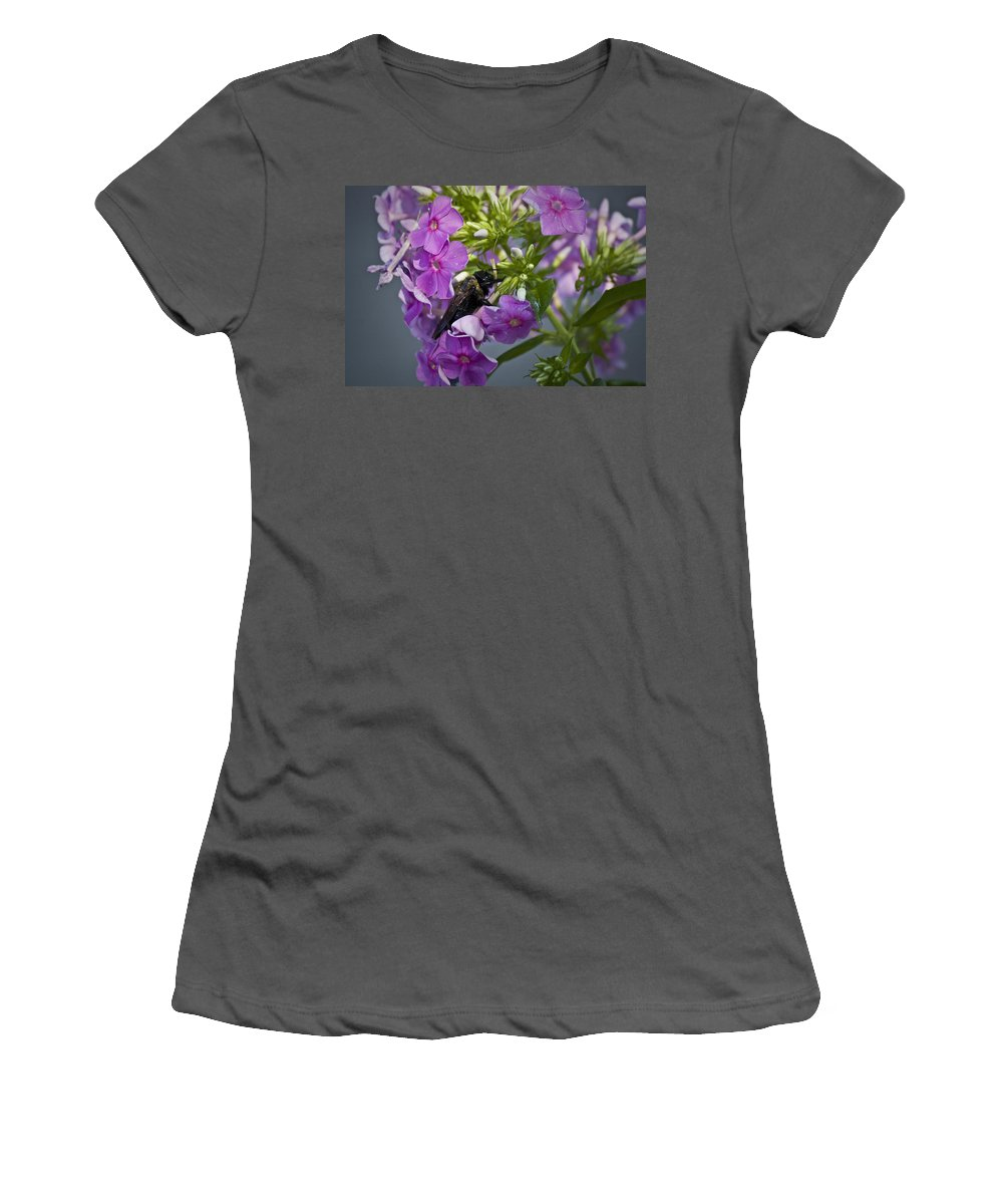 Bumblebee Women's T-Shirt (Athletic Fit) featuring the photograph Wake Up Sleepyhead by Teresa Mucha