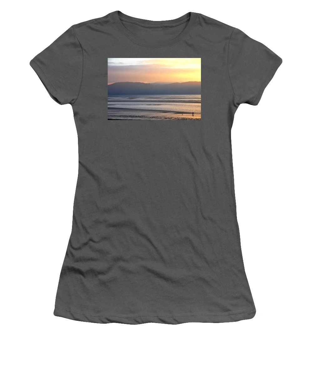 Wales Women's T-Shirt (Athletic Fit) featuring the photograph Walk On The Beach by Harry Robertson