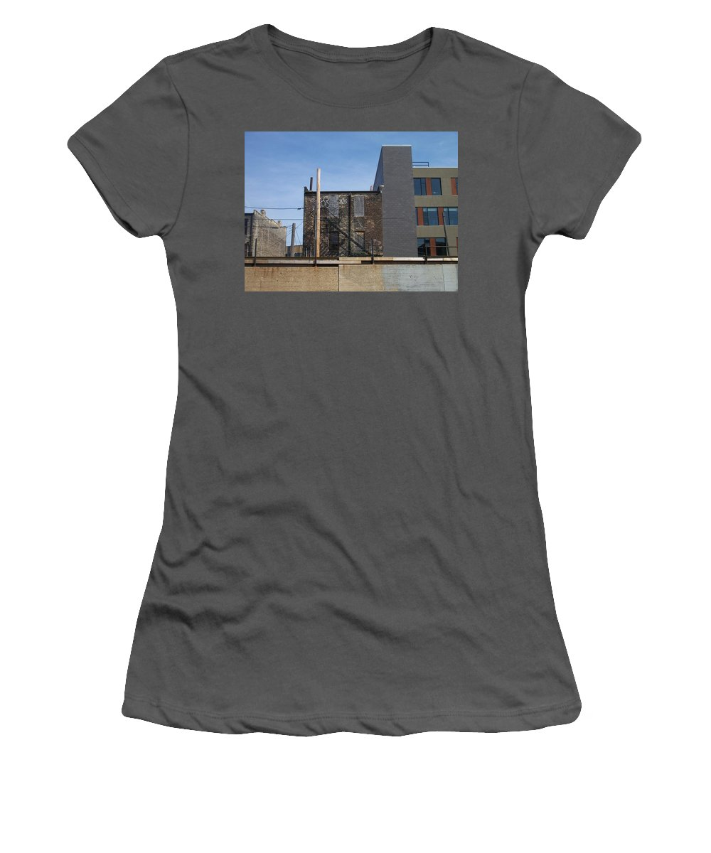 Walker's Point Women's T-Shirt (Athletic Fit) featuring the photograph Walker's Point 2 by Anita Burgermeister