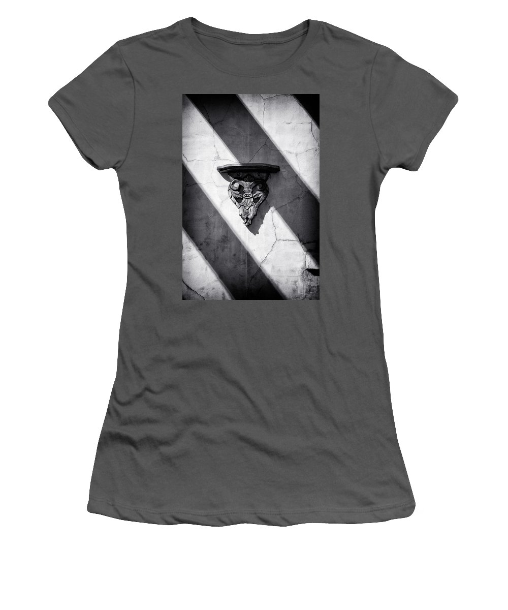 Architecture Women's T-Shirt (Athletic Fit) featuring the photograph Wall Sconce by Scott Wyatt