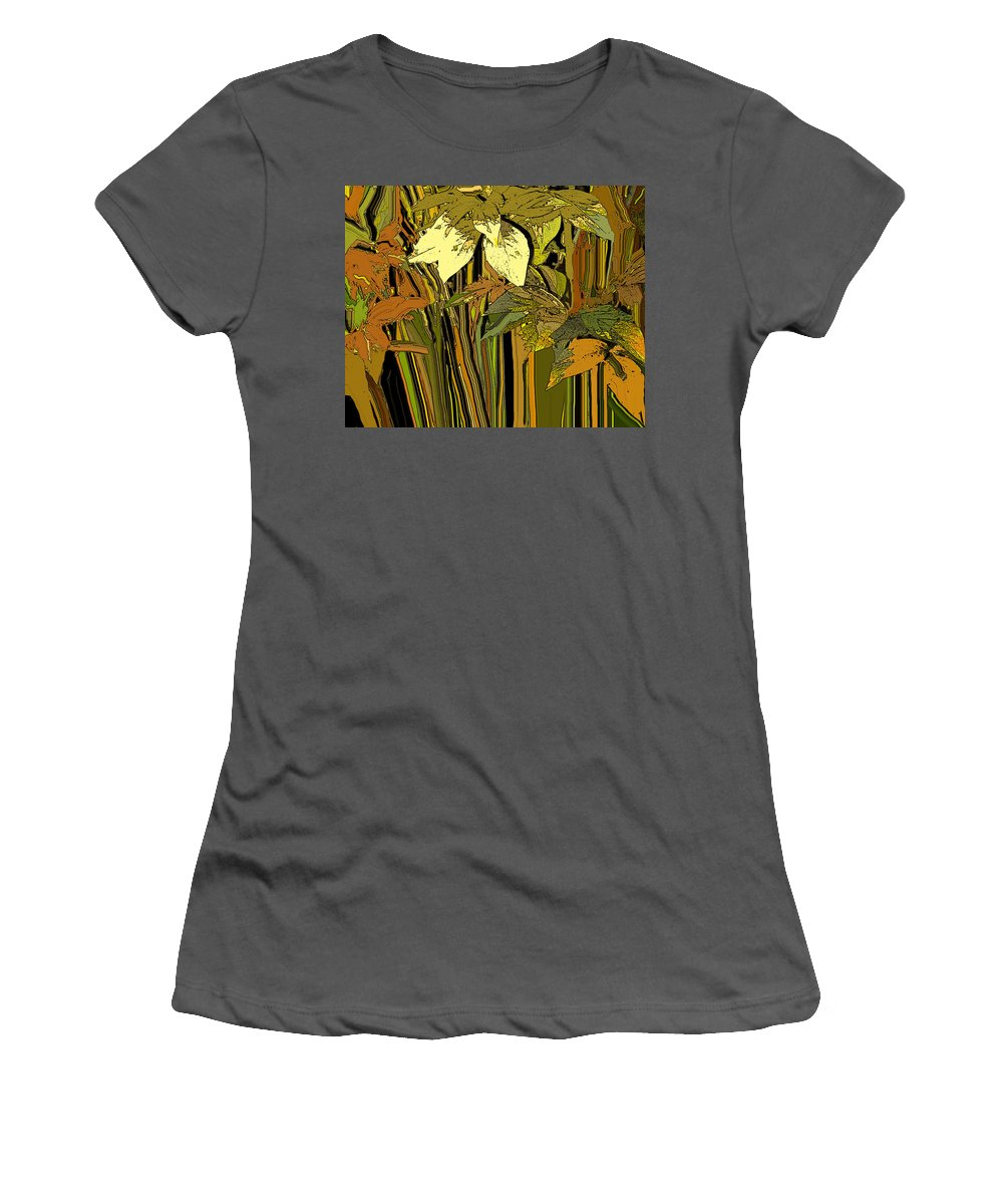 Garden Women's T-Shirt (Athletic Fit) featuring the photograph Warm Leaves by Ian MacDonald
