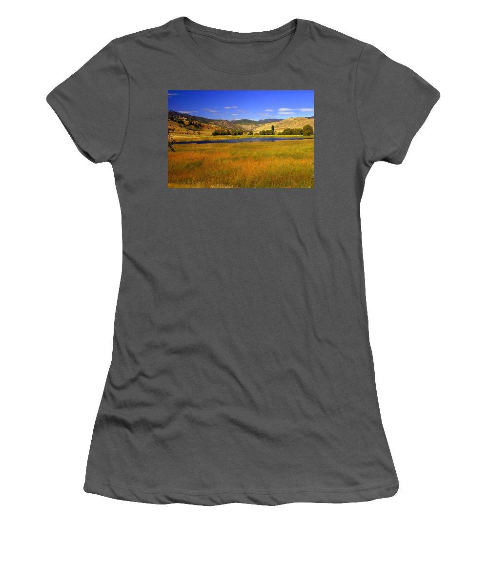 Landscape Women's T-Shirt (Athletic Fit) featuring the photograph Washington Landscape by Marty Koch