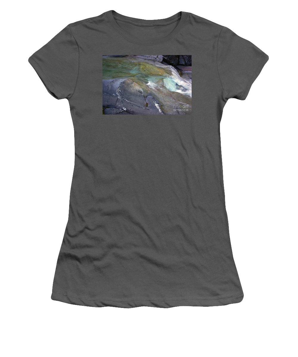 Tropical Women's T-Shirt (Athletic Fit) featuring the photograph Water Flow by Kerryn Madsen- Pietsch