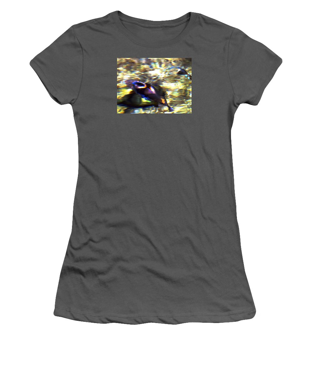 Fine Art Print Women's T-Shirt (Athletic Fit) featuring the digital art Water Spirit by Patricia Griffin Brett