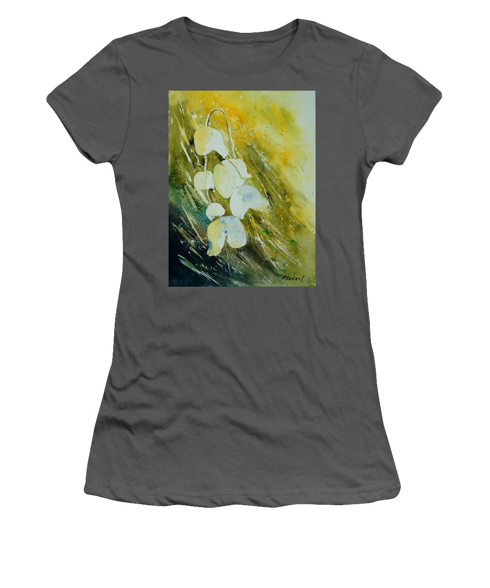 Flowers Women's T-Shirt (Athletic Fit) featuring the painting Watercolor 220508 by Pol Ledent