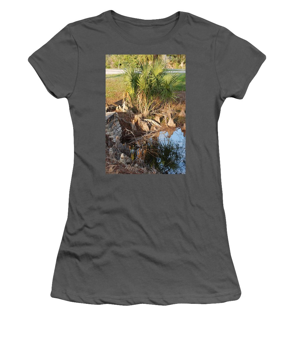 Roots Women's T-Shirt (Athletic Fit) featuring the photograph Waters Edge by Rob Hans