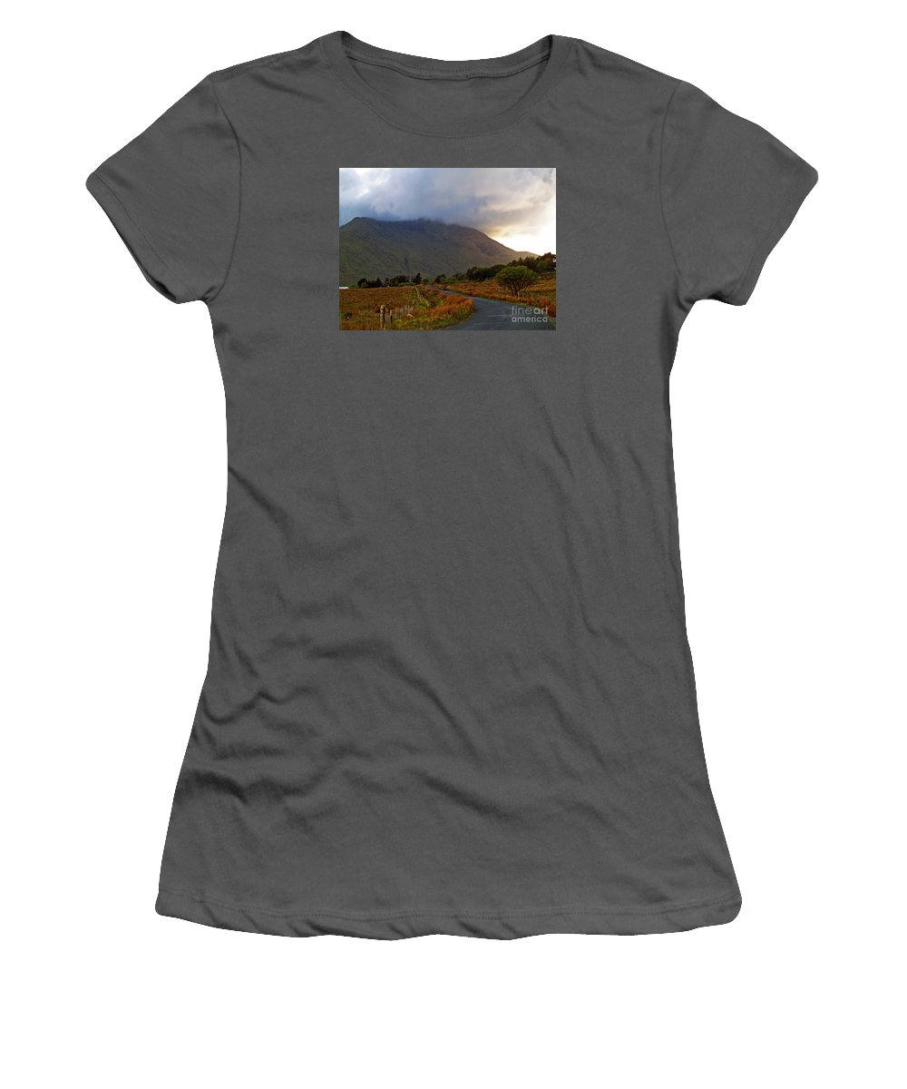Fine Art Photography Women's T-Shirt (Athletic Fit) featuring the photograph We Took The Road Less Traveled by Patricia Griffin Brett