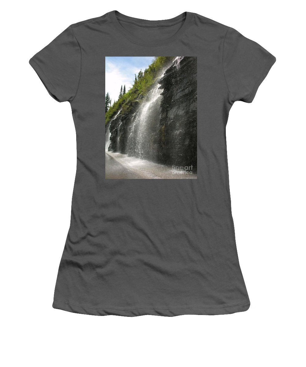 Weeping Women's T-Shirt (Athletic Fit) featuring the photograph Weeping Wall by Diane Greco-Lesser