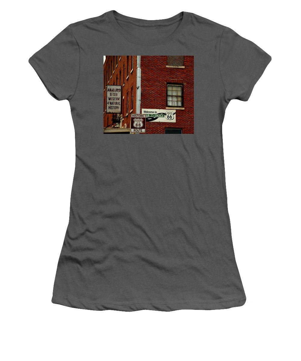 Landmark Women's T-Shirt (Athletic Fit) featuring the photograph Welcome To The Main Street Of America by Susanne Van Hulst