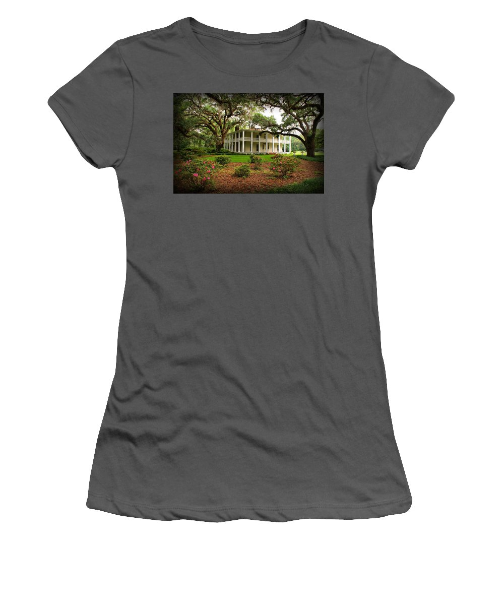 Eden State Park Women's T-Shirt (Athletic Fit) featuring the photograph Wesley House by Sandy Keeton