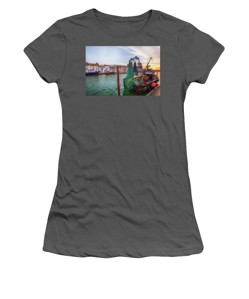Weymouth Women's T-Shirt (Athletic Fit) featuring the photograph Weymouth - England by Joana Kruse