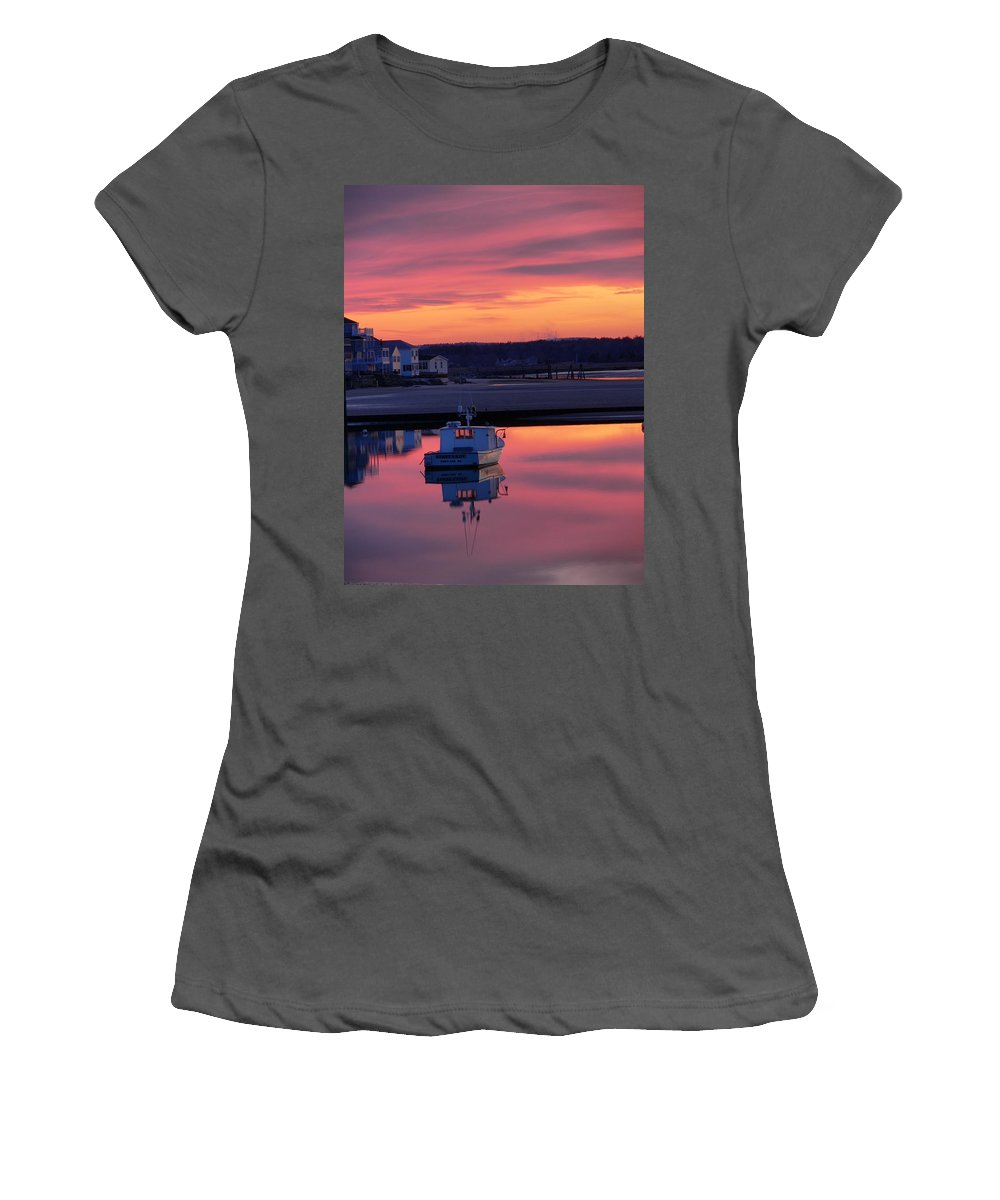 Spring Women's T-Shirt (Athletic Fit) featuring the photograph When The Sun Goes Down by Nancie DeMellia